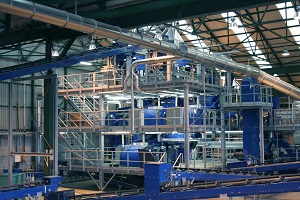 Glasrecycling Anlage